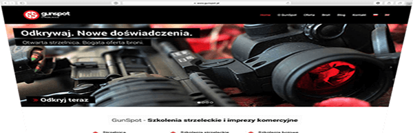 Portfolio - strona internetowa - gunspot.pl